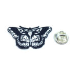 Black Enamel Butterfly Lapel Pin