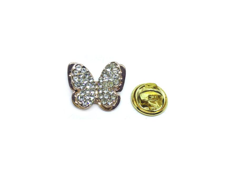 Rhinestone Butterfly Lapel Pins