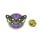 Gold Plated Multi-color Enamel Butterfly Pin