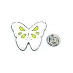 White Enamel Butterfly Lapel Pin