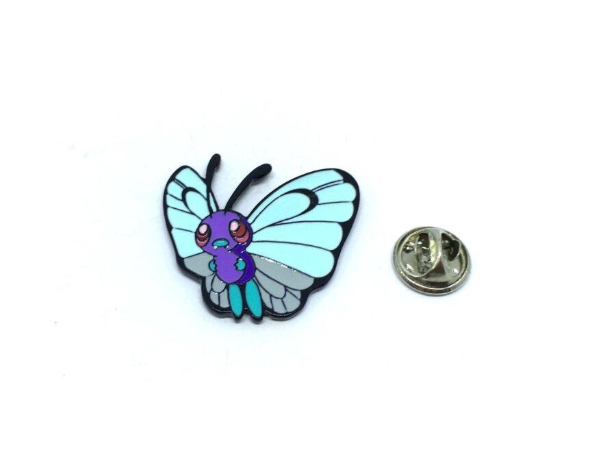 Enamel Butterfly Lapel Pin