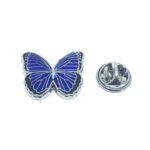 Blue Enamel Butterfly Lapel Pin