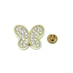 Gold plated Crystal Butterfly Pin
