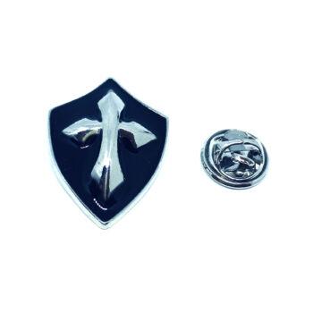 Black Enamel Cross Pin