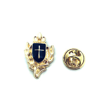 Gold plated Enamel Cross Pin