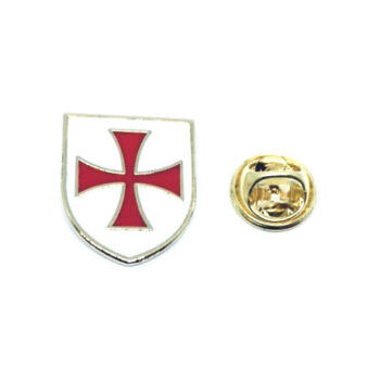 Gold plated Enamel Cross Lapel Pin