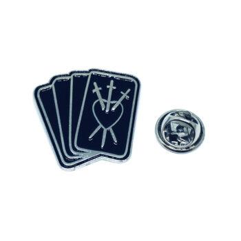 Silver plated Black Enamel Cross Pin
