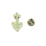 Heart Cross Pin