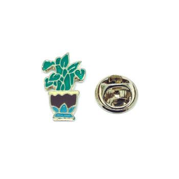 Gold platting Enamel Cactus Pin