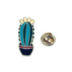 Gold plated Enamel Cactus Lapel Pin