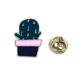 Gold plated Cactus Pin