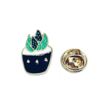 Gold tone Cactus Lapel Pin