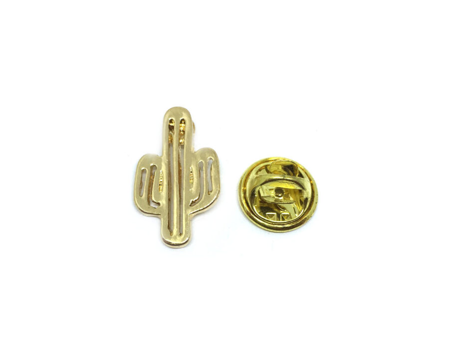 Gold plated Cactus Lapel Pin