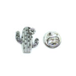 Silver plated Cactus Lapel Pin