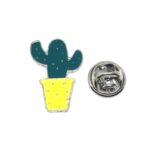 Silver plated Enamel Cactus Lapel Pins