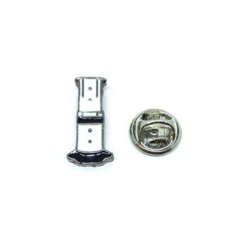 White Enamel Bottle Cheer Lapel Pin