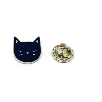 Black Enamel Cat Pin