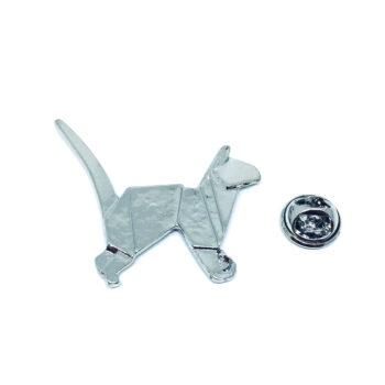 Silver plated Cat Pin