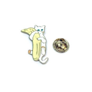 Banana Cat Lapel Pin