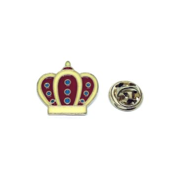 Gold plated Enamel Crown Pin