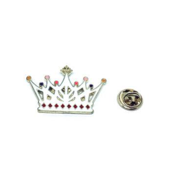 Gold tone Enamel Crown Pin
