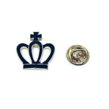Blue Enamel Crown Pin
