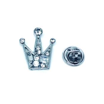 Crystal Crown Lapel Pin