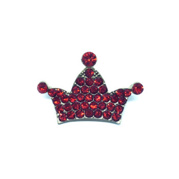 Red Crystal Crown Pin
