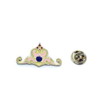 Gold tone Enamel Crown Lapel Pin