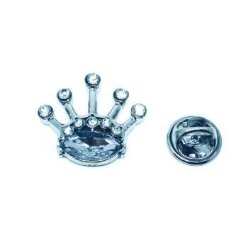 Crystal Crown Pin