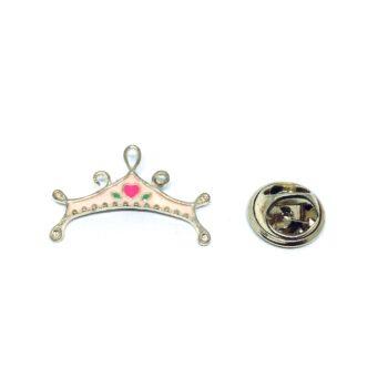 Crown Enamel Lapel Pin