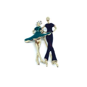 Enamel Dance Brooch Pin