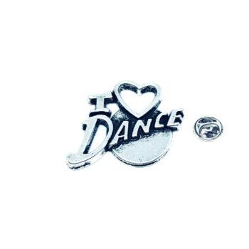 I Love Dance Lapel Pin