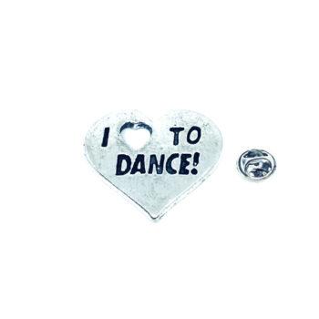 I Love Dance Pin