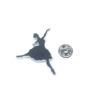 Black Enamel Dance Lapel Pin