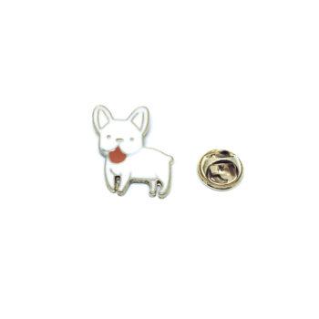 Gold plated Enamel Dog Lapel Pin