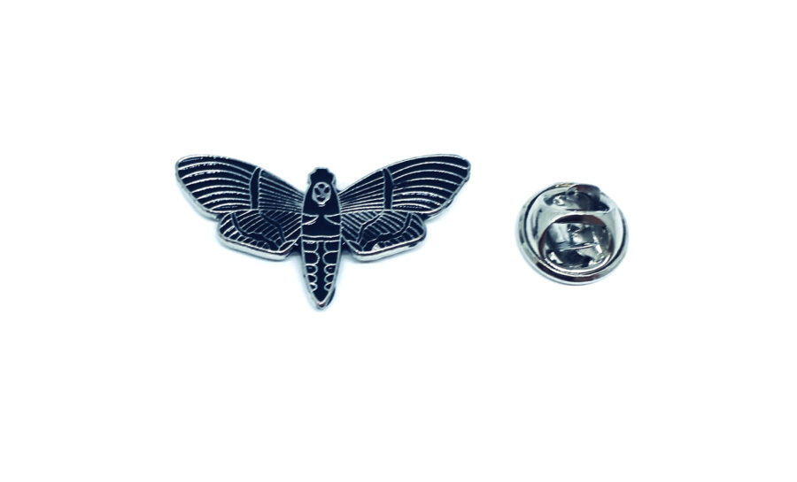 Black Enamel Dragonfly Pin