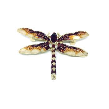 Enamel Dragonfly Brooch Pin