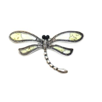 Silver plated Dragonfly Brooch Pin