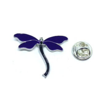 Blue Enamel Dragonfly Lapel Pin