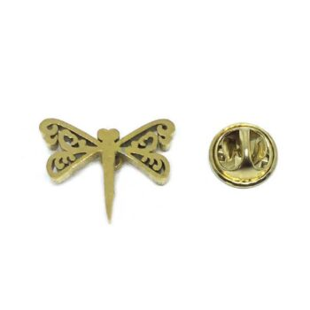 Gold plated Small Dragonfly Lapel Pin