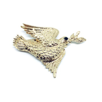Gold plated Dove Pin
