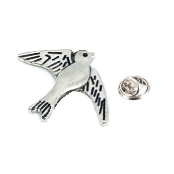 Silver plated Dove Lapel Pin