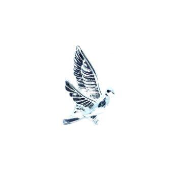 Silver tone Dove Pin