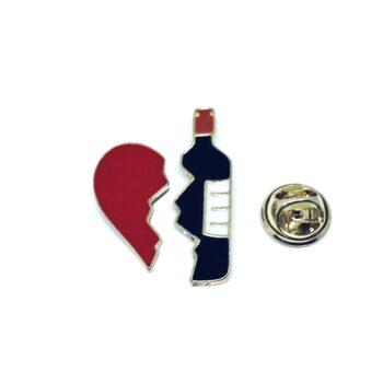 Wine Bottle Enamel Pin