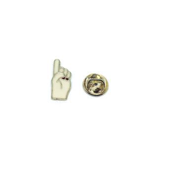 Finger Sign Enamel Pin