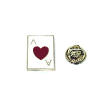 Poker Hearts Red Enamel Pin