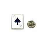 Poker Spades Black Enamel Pin