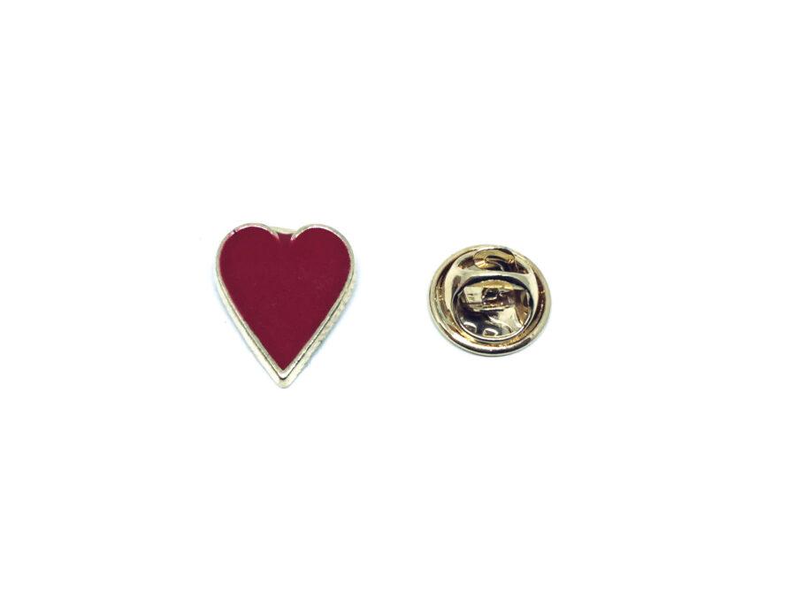 Poker Hearts Enamel Lapel Pin