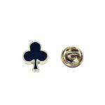 Poker Clubs Enamel Lapel Pin